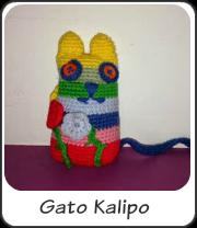 Gato multicolor amigurumi