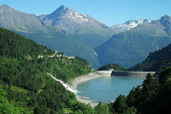 savoie maurienne vanoise aussois barrage plan aval lac