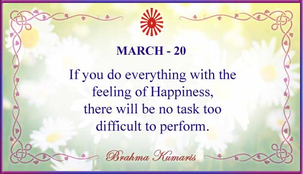Thought For The Day March 20