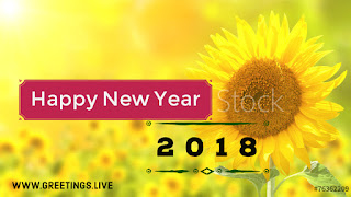 Excellent sun flower new year greeting