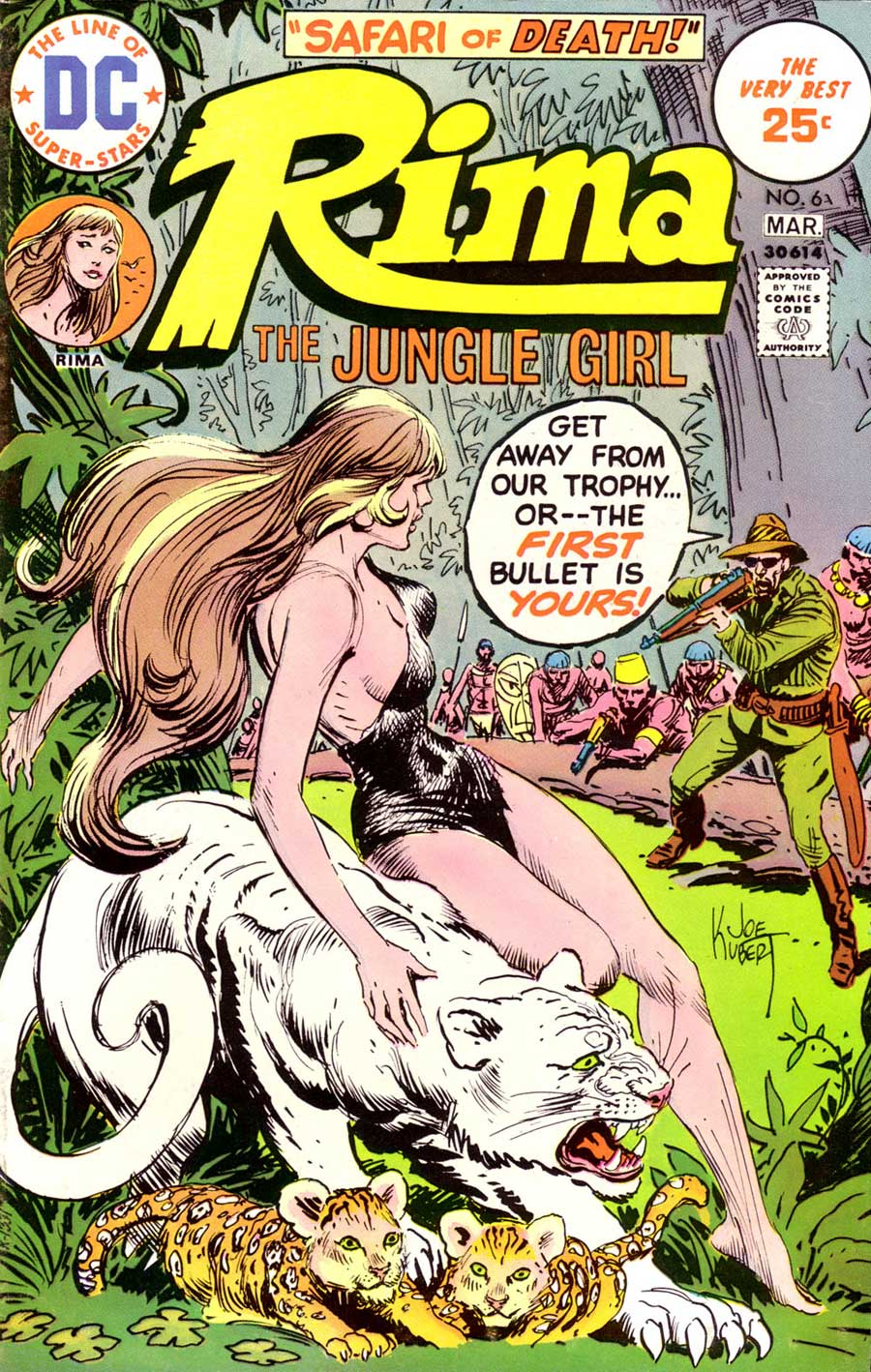 Rima the Jungle Girl v1 #6 dc bronze age comic book cover art by Joe Kubert