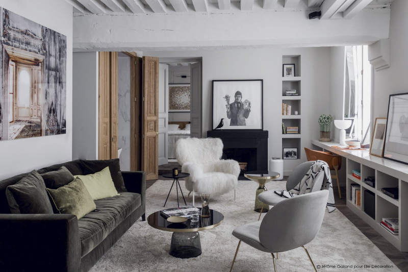 A Parisian Apartment With Mix Of Urban Chic Decoration And Rustic Touches Designed By Flora De Gastines Anne Geistdoerfer Double G Interior Design