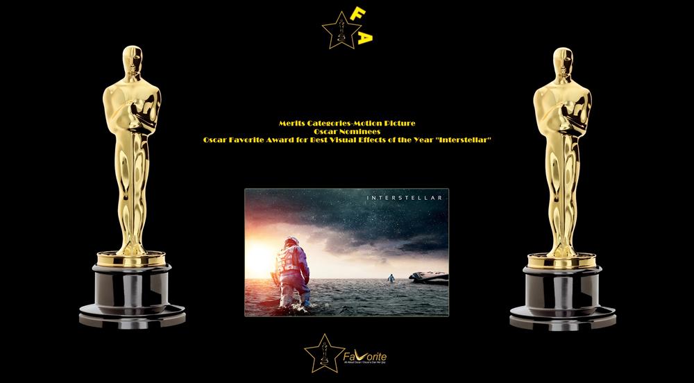 oscar favorite best visual effects award interstellar