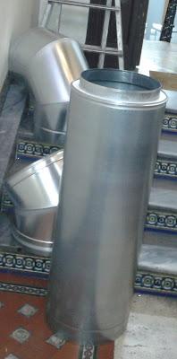 foto tubos de doble capa chimenea