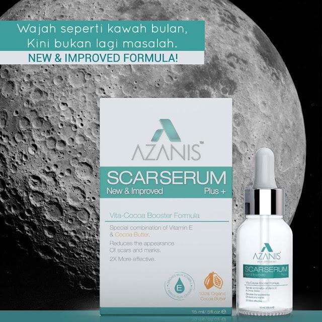 Azanis Scar Serum Vita Cocoa Booster Formula Baru Rawat Masalah Parut