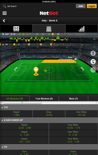 NetBet Screen