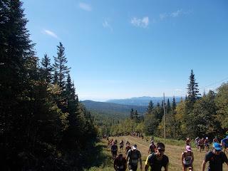 UTHC, Harricana, été, La Malbaie, foule au départ, piste de ski, paysage