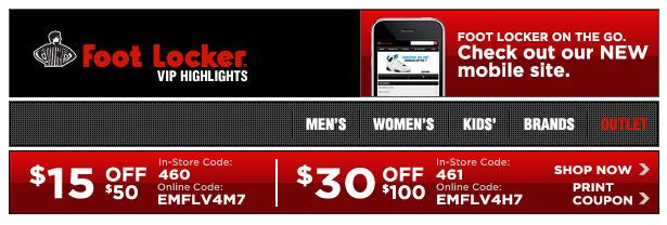 photo relating to Foot Locker Printable Coupons referred to as Inside-Retailer Printable Discount codes, Savings and Offers! Printable