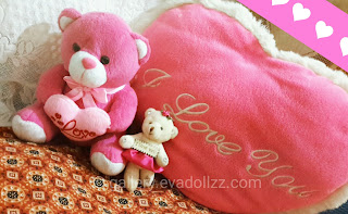 Cute stuffed, teddy bears, pink, i love you