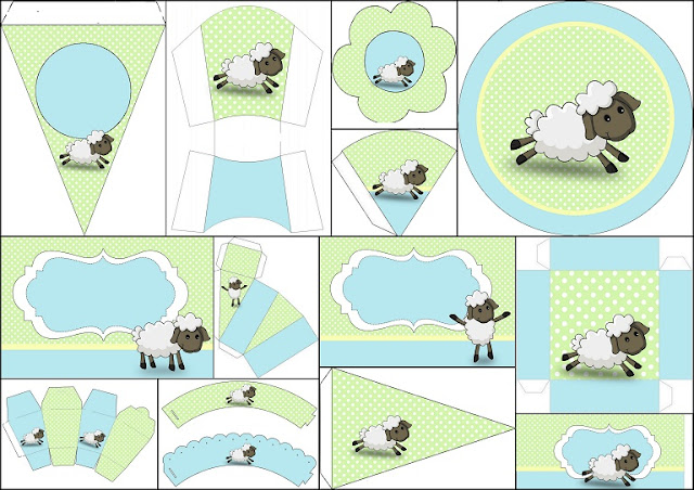 Cute Sheep Free Printable Kit for Boys.
