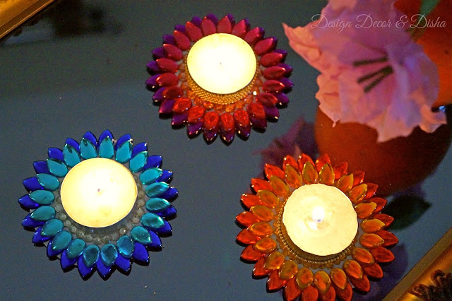 DIY Lotus Tealights