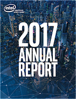 Front page of Intel annual 2017 report