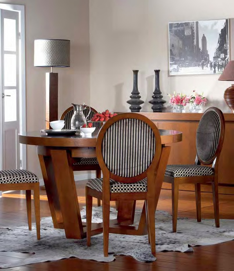 Mesas de comedor: 5 MESAS DE COMEDOR EN MADERA DE CASTAÑO