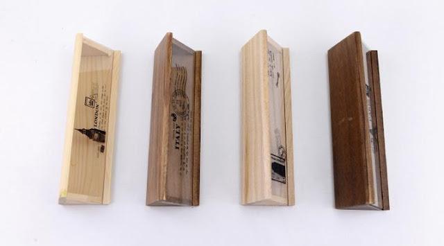 Hộp đựng bút gỗ khắc laser