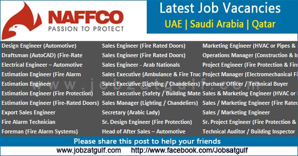 Job Vacancies Naffco Uae Saudi Arabia Qatar