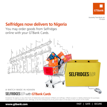GTbank selfridges partnership