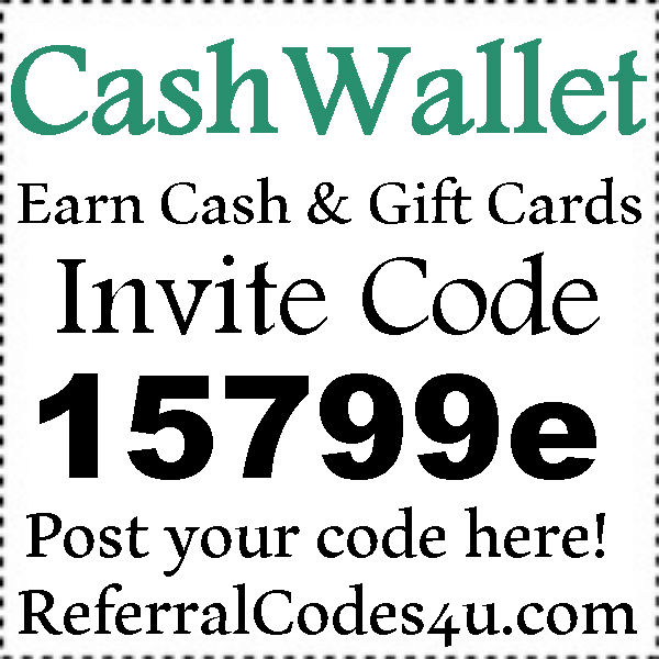 CashWallet App Invitation Code 2016-2021, CashWallet Reviews, Cash Wallet Sign Up Bonus
