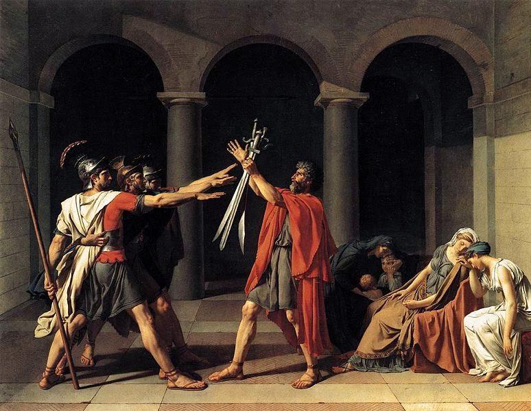 O Juramento de Horácios - David, Jacques-Louis e suas principais pinturas ~ Representante do neoclassicismo