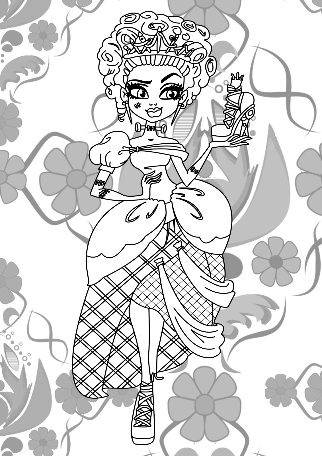 Monster High Jinafire Long Coloring Pages | Coloring Pages ...