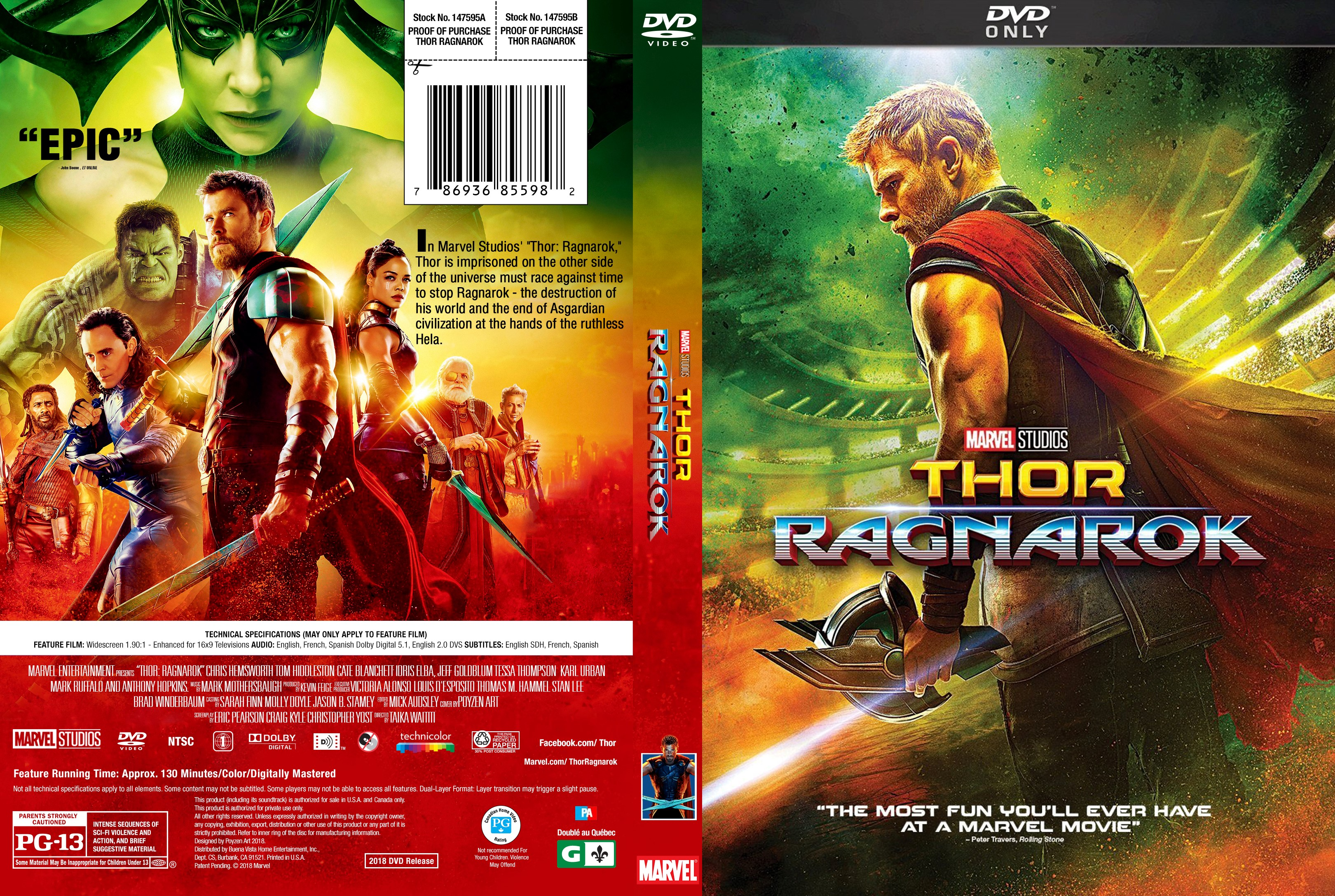 Thor Ragnarok Dvd Cover Cover Addict Free Dvd Bluray Covers And Movie Posters