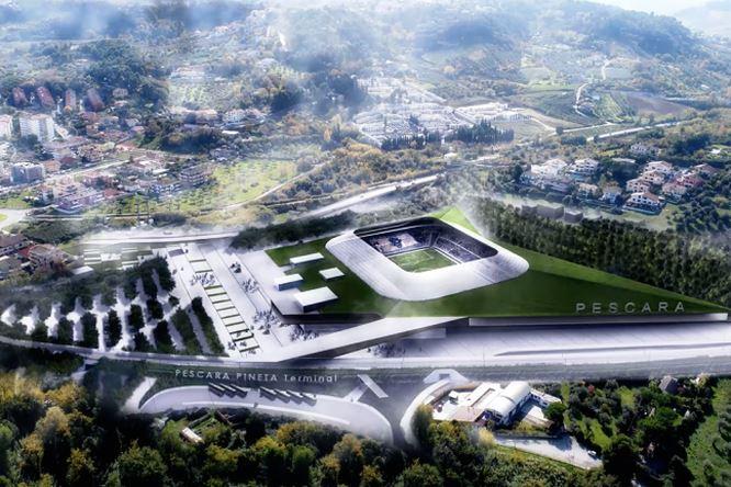 Pescara presentato il progetto del nuovo stadio video - Progetto casa pescara ...
