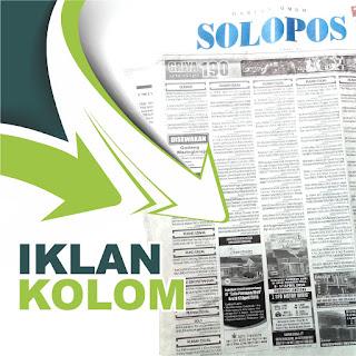 Iklan Kolom di Koran Solopos