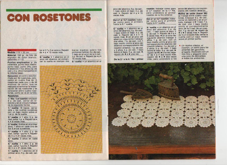 Rosetones de Crochet