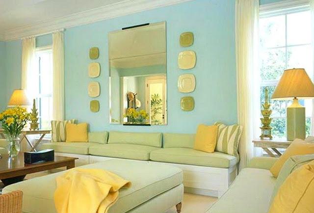 warna cat ruang tamu agar terlihat luas dan tampil elegan