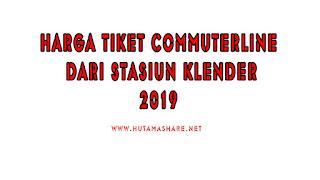 Harga Tiket Commuterline Dari Stasiun Klender Terbaru 2019