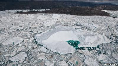 Gletser di Greenland tidak mengalir dengan cepat dan sebanyak ibarat yang telah diperkir Kecepatan Aliran Gletser Di Greenland