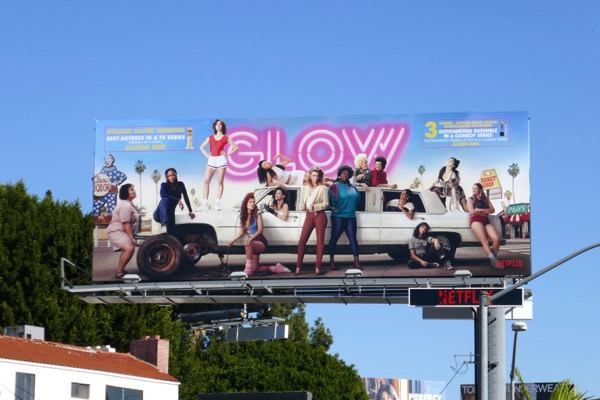 GLOW s2 Golden Globe SAG billboard