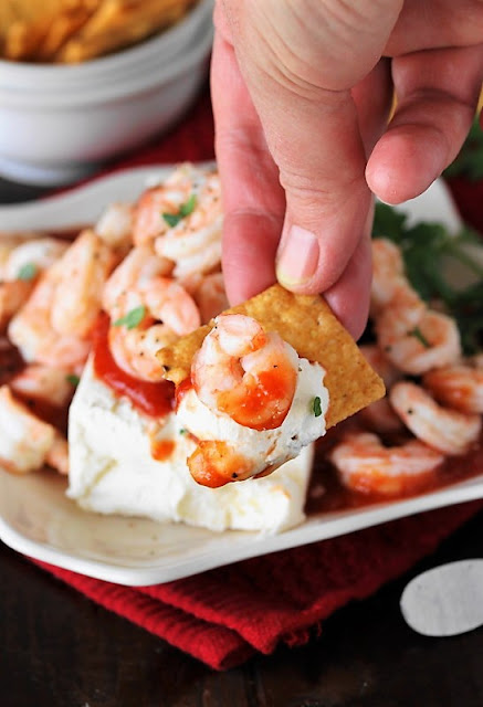 Super Easy Shrimp & Cream Cheese Appetizer with Crunchmaster Crackers image