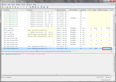 SQL Server Profiler Performance Query Result 3