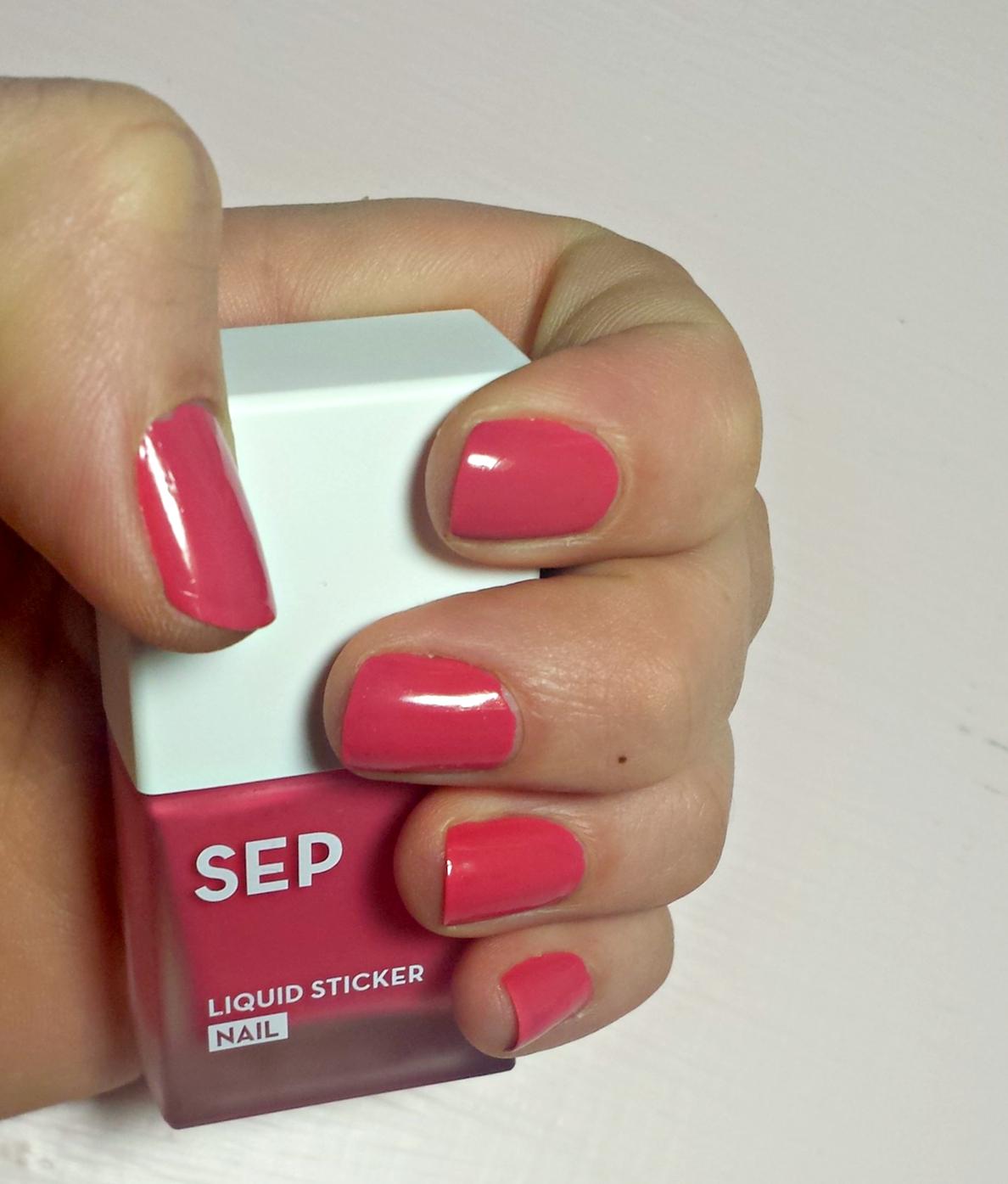 SEP Beauty Liquid Sticker Nail Polish Review
