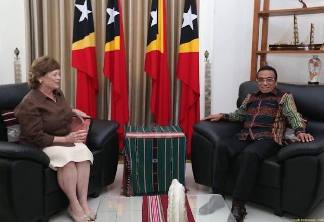 Embaixadora EUA Ko'alia Kooperasaun Nasaun Rua ho Xefe Estadu