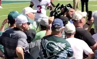 Brandon Marshall Allegedly Spit On Eagles Fan