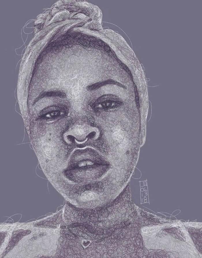03-Gabi-Jennifer-Ackerman-Digital-Art-Scribble-Drawing-Portraits-www-designstack-co