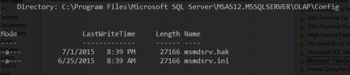 Switching SSAS Instances between Multidimensional and