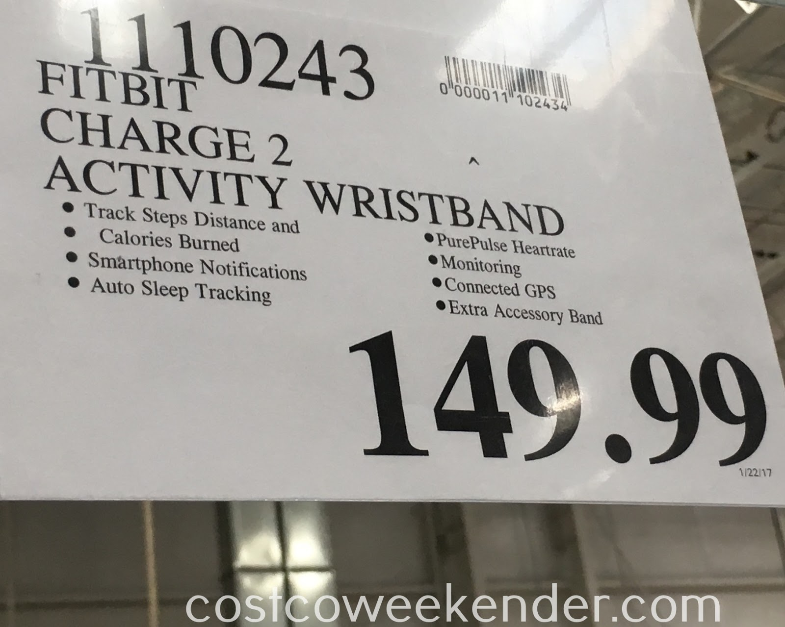 Deal for the Fitbit Charge 2 Heart Rate + Fitness Wristband at Costco