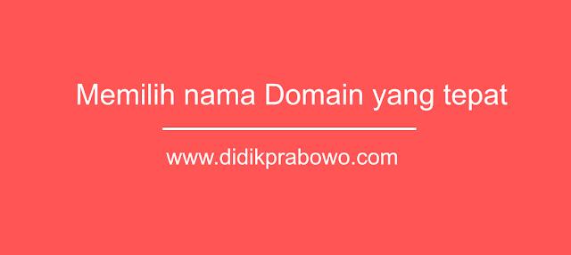 6 Tips memilih nama domain untuk blog yang tepat