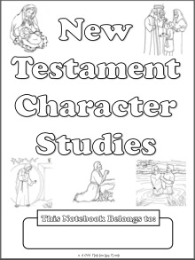 Free New Testament Character Study Notebooking Pages
