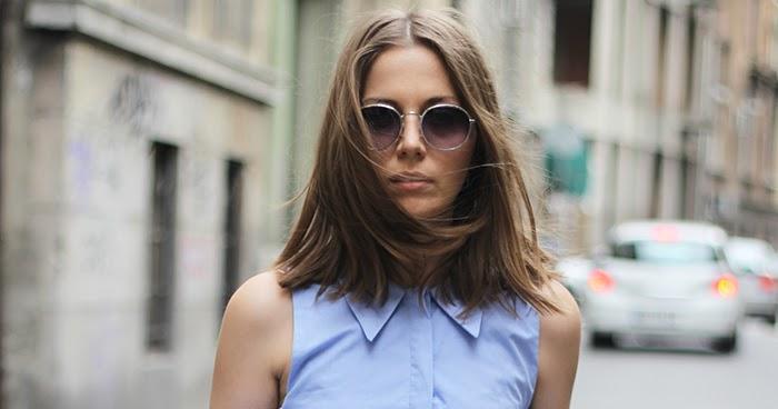 Fashion And Style Blue Shirt