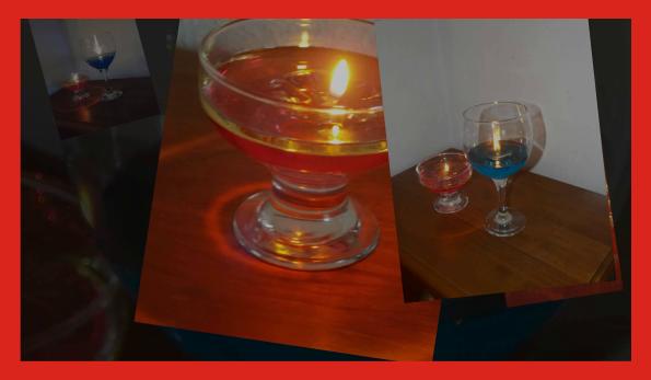 Velas con aceite y agua