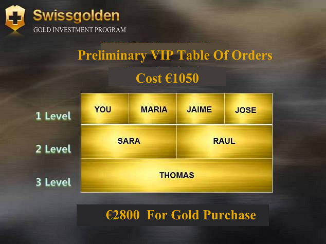 Preliminary VIP Table Of Orders