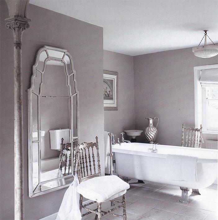 The paper mulberry romantic feminine bathrooms for Mauve bathroom ideas