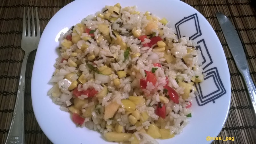 Receta de ensalada de arroz integral con nectarinas