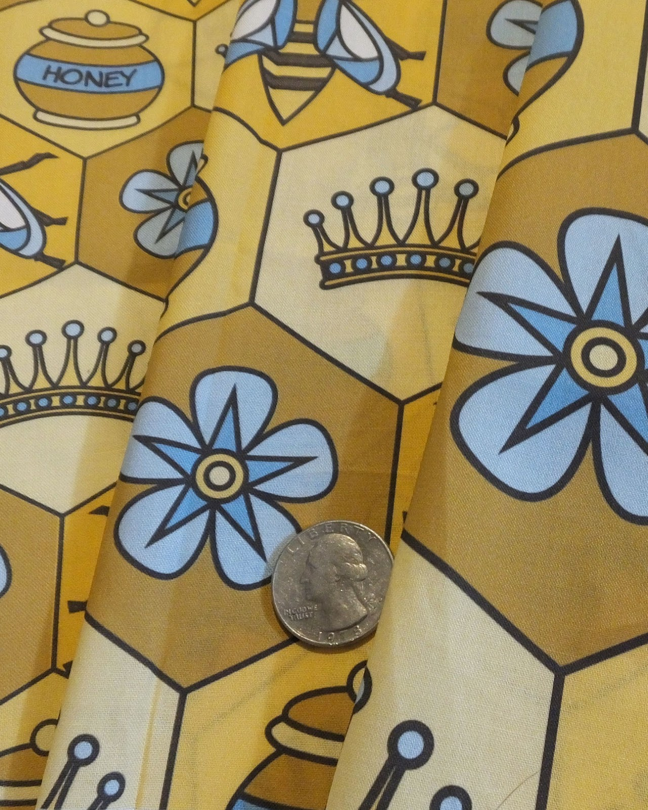 Bee fabric design
