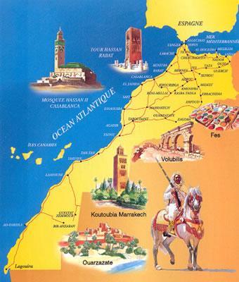 carte touristique maroc
