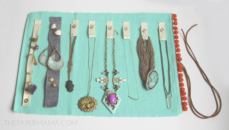 Make A Jewelry Roll From Place Mat