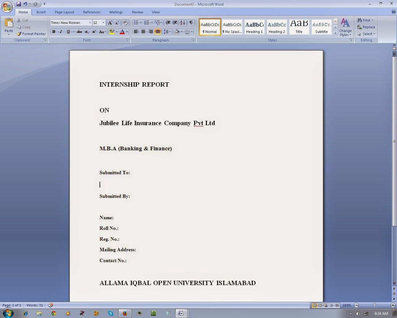 Internship Report Avaliable(Jubliee Life Insurance Company)